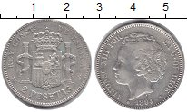 Изображение Монеты Испания 2 песеты 1894 Серебро VF