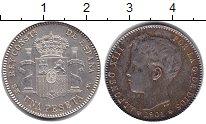 Изображение Монеты Испания 1 песета 1901 Серебро UNC-
