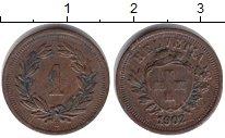 Изображение Монеты Швейцария 1 рапп 1902 Медь VF