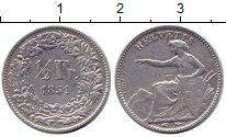 Изображение Монеты Швейцария 1/2 франка 1851 Серебро XF А