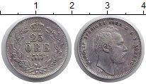 Изображение Монеты Швеция 25 эре 1866 Серебро XF-