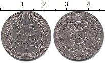 Изображение Монеты Пруссия 25 пфеннигов 1909  XF