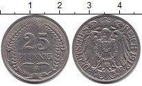 Изображение Монеты Пруссия 25 пфеннигов 1912  XF F