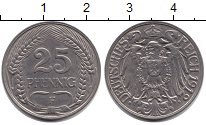 Изображение Монеты Пруссия 25 пфеннигов 1912  XF