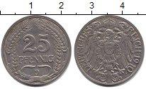 Изображение Монеты Пруссия 25 пфеннигов 1910  XF-