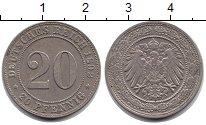 Изображение Монеты Германия 20 пфеннигов 1892 Медно-никель XF