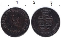 Изображение Монеты Саксен-Майнинген 1/4 крейцера 1818 Медь XF