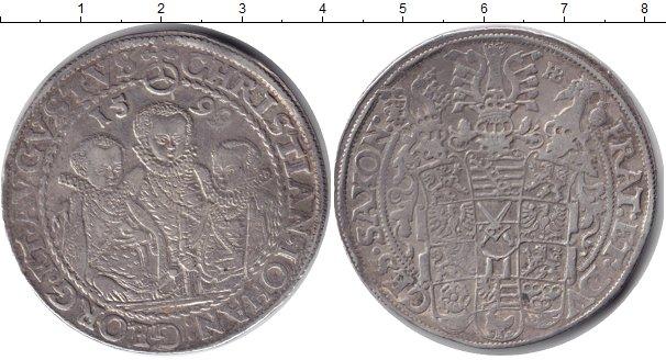 Картинка Монеты Саксония 1 талер Серебро 1599