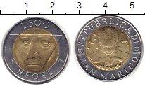 Изображение Монеты Сан-Марино 500 лир 1996 Биметалл XF
