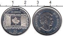 Изображение Мелочь Канада 25 центов 2015 Медно-никель UNC Флаг Канады