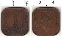 Изображение Монеты Малайя 1 цент 1939 Медь XF