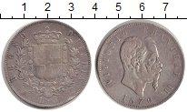 Изображение Монеты Италия 5 лир 1870 Серебро VF Витторио Имануил II