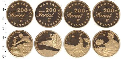 Изображение Наборы монет Венгрия Венгрия 2001 2001  Proof- В наборе 4 монеты но