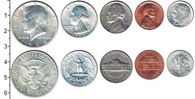 Изображение Наборы монет США США 1964 1964   В наборе 5 монет ном