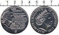 Изображение Мелочь Великобритания Гернси 5 фунтов 2015 Медно-никель UNC-