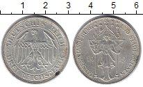Изображение Монеты Веймарская республика 3 марки 1929 Серебро XF 1000 лет Майсену