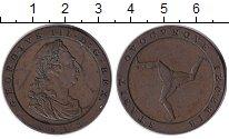 Изображение Монеты Остров Мэн 1 пенни 1813 Медь XF-