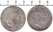 Изображение Монеты Великобритания 1/2 кроны 1818 Серебро XF+