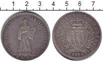 Изображение Монеты Сан-Марино 5 лир 1898 Серебро XF-