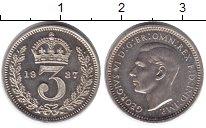 Изображение Монеты Великобритания 3 пенса 1937 Серебро Prooflike
