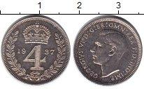 Изображение Монеты Великобритания 4 пенса 1937 Серебро Prooflike