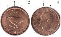 Изображение Монеты Великобритания 1 фартинг 1937 Бронза UNC Георг VI