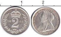 Изображение Монеты Великобритания 2 пенса 1895 Серебро Prooflike