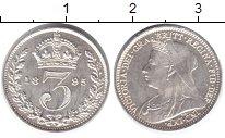 Изображение Монеты Великобритания 3 пенса 1895 Серебро Prooflike Виктория (маунди-сет