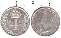 Изображение Монеты Великобритания 4 пенса 1895 Серебро Prooflike