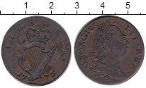 Изображение Монеты Ирландия 1/2 пенни 1776 Медь VF Георг III