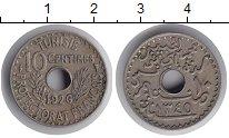 Изображение Монеты Тунис 10 сентим 1926 Медно-никель XF Французский протекто