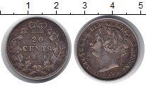 Изображение Монеты Канада 20 центов 1858 Серебро XF- Виктория.Год-тип.Ред