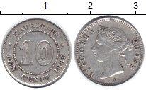Изображение Монеты Маврикий 10 центов 1889 Серебро XF-
