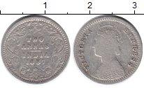 Изображение Монеты Британская Индия 2 анны 1887 Серебро VF Виктория