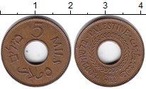 Изображение Монеты Палестина 5 милс 1944 Бронза UNC-