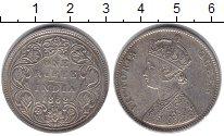 Изображение Монеты Британская Индия 1 рупия 1862 Серебро XF Виктория