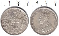 Изображение Монеты Британская Индия 1 рупия 1918 Серебро UNC- Георг V
