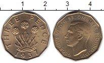 Изображение Монеты Великобритания 3 пенса 1937 Латунь UNC