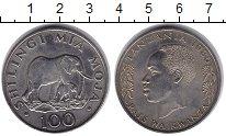Изображение Монеты Танзания 100 шиллингов 1986 Медно-никель  Слоны