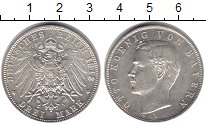 Изображение Монеты Бавария 3 марки 1913 Серебро XF
