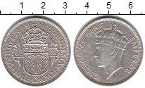 Изображение Монеты Родезия 1/2 кроны 1937 Серебро VF Герб Южной Родезии -