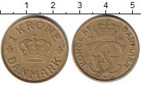 Изображение Монеты Дания 1 крона 1940  XF