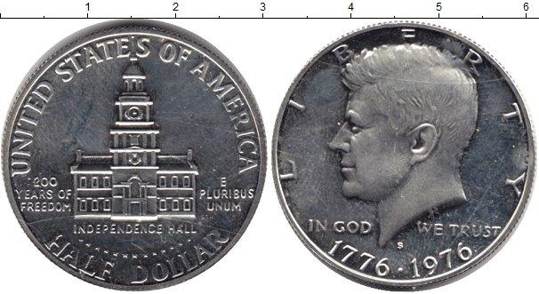 Картинка Монеты США 1/2 доллара  1976