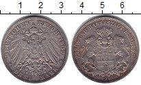 Изображение Монеты Гамбург 3 марки 1909 Серебро XF