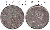 Изображение Монеты Бельгия 5 франков 1850 Серебро XF Леопольд