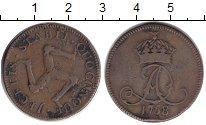 Изображение Монеты Остров Мэн 1 пенни 1758 Медь VF