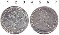 Изображение Монеты Франция 1/2 экю 1702 Серебро XF- Людовик XIV