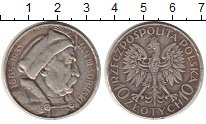 Монета Польша 10 злотых Серебро 1933 XF фото