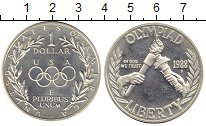 Изображение Монеты США 1 доллар 1988 Серебро Proof- Олимпиада 88.