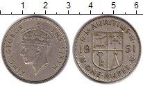 Изображение Монеты Маврикий 1 рупия 1951 Серебро XF